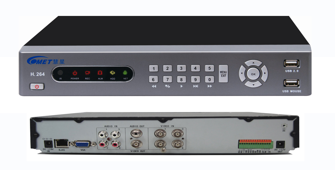 Functional Type 4ch DVR Support PTZ Control