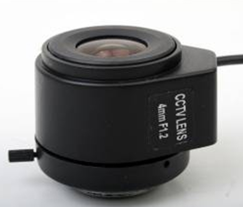 4mm Manual Focus DC Aperture F1.2 Lens